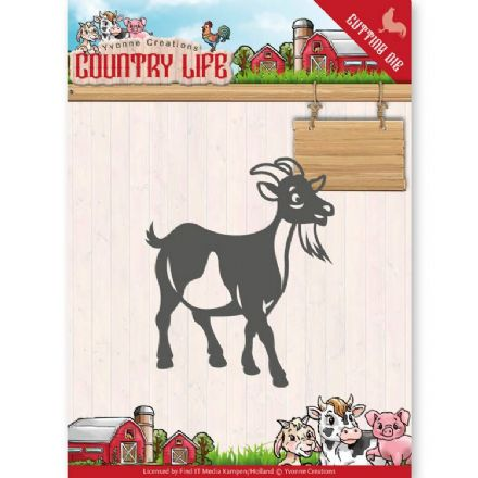 YCD10131 L~ Goat ~ Country Life ~ Yvonne Creations